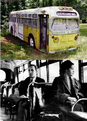 In 1955, a seamstress named Rosa Parks boarded a bus in downtown Montgomery.